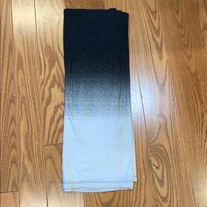 Cotton Ombré Black & White Rectangular Hijab Scarf